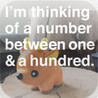 I'm thinking of a number. Image