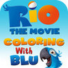 Rio The Movie, Coloring with Blu Image