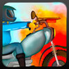 A Clash of Angry Harlem Bikers - Oldschool Bike Race Shooting Game Image