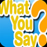 What You Say? Image