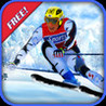 Ski Race Time - Surfer Snow Skiing on Slopes Image