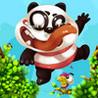 Cute Panda Jump Image