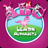 Learn Alphabets - Playing with Pink Unicorn Image