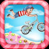 Peppermint Cotton Candy Land - Bike Race Game Image