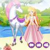 white horse princess dress up Image