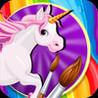 Unicorn Rush Coloring Image