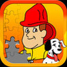 Fireman JigSaw Puzzle - Animated Puzzles for Kids with Fun Firetruck and Firemen Cartoons! Image