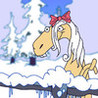 Christmas Singing Horses Image