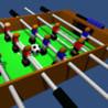 Table Football, Table Soccer,  Foosball. 3D Image