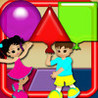3D Shapes Catch - Geometric Balloons shapes Learning Game Image