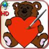 Livre de coloriages pour la fete de la Saint Valentin avec des colombes, des coeurs et des anges - Pour iPhone et iPod Image