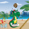 Dino Jump - Escape from the nutty coconut on a beach stroll fun game Image