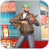 Robber Shooting Gun Escape Image