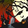 Bat Flurry Halloween Midnight Flight Image