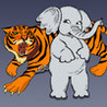 Elephant vs Tiger Image