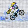 A Pumped Stickman Doodle BMX Rider Image