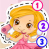Kids Makeover Puzzle Teach me Tracing & Counting - girls dress up princesses with make-up and earrings Image