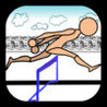 Parkour Agent Man in Hurdles Leap, and Jumps Image