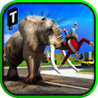 Angry Elephant Attack 3D Image
