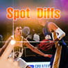 A Spot the differences game - Find hidden objects in Sport Puzzle Pictures - Spotting What's the difference? Image