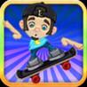 Airborne Skateboarding Surfers: Subway Rail Escape Image