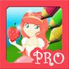 Princess Coloring Book: Little Strawberry Shortcake Girl Game PRO Image
