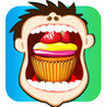 Cupcake Mouth Wide Open : Kids Don't tell the Dentist - Gold Image