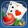 Solitaire Game. Christmas Image