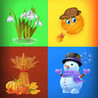The Four Seasons -  educational game for children and babies Image