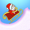 Christmas Santa Mountain Race - cool speed downhill racer Image