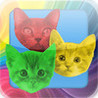 Cat Swap! Cats and Kittens Gem Puzzle Image