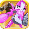 A Pink Knight vs Bionic Heroes Image