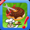 Cut The Donuts yummy : Slice rope to bake bakery cooking Chef Image