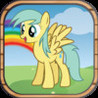Pony Jump Game: Cute Little Ponies jump through the magic forest Image