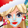 Miss Santa Eye & Nose & Face & Mouth  Makeover  & Dress up for Christmas Day Image