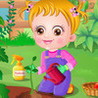 Cute Baby Learn Planting Image