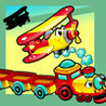 Animated Kids Game: Shadow Puzzle with Funny Cars and Planes in the City Image