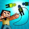 A Pixel Block Mine Fishing Game GRAND - 8-Bit Zombie Fish Slice Survival Image